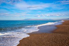 Stock Photo of Almeria Cabo de Gata San Miguel beach Spain
