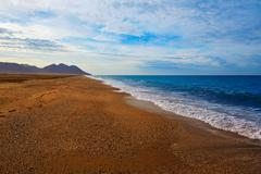 Almeria Cabo de Gata San Miguel beach Spain - stock photo