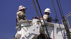Working for the Electrical Power Co. Stock Footage