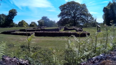 Roman Temple at Lydney 03 Stock Footage