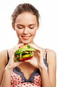 Hungry for vegs - stock photo