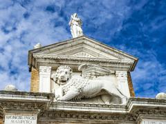 Stock Photo of medieval lion, symbol of Venice republic, Italy