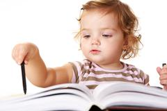 Cute reader Stock Photos