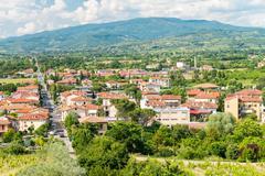 Arezzo. City aerial view - Italy - stock photo
