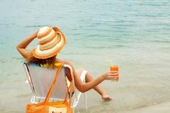 Refreshing female - stock photo