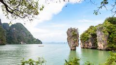 High angle view Khao Tapu or James Bond Island Kuvituskuvat