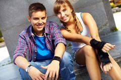 Youthful couple - stock photo