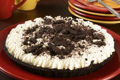 Cookies and cream pie Stock Photos