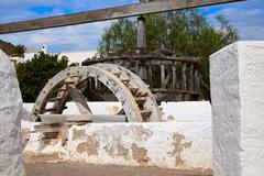 Almeria Cabo de Gata watermill Pozo de los Frailes - stock photo