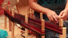 Weaving Thread in Threadshop Stock Footage