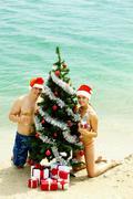 New Year on the beach Kuvituskuvat
