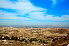Stock Photo of Aerial view from Mojacar Almeria village in Spain