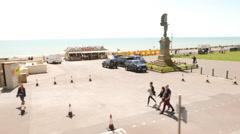 The Beachwalks of Brighton on Sea Stock Footage