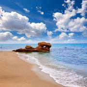 Stock Photo of Almeria Mojacar beach Mediterranean sea Spain