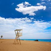 Almeria Mojacar beach Mediterranean sea Spain - stock photo