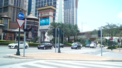 Macao, China: urban road traffic - stock footage