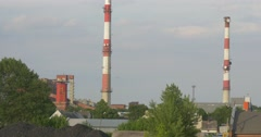 Cement Factory, Industry, Panorama, Poland, Opole Stock Footage