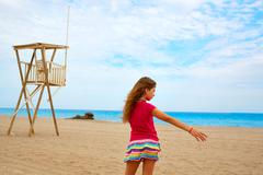 Almeria Mojacar beach Mediterranean sea Spain - stock photo