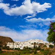 Mojacar in Almeria village skyline in Spain - stock photo
