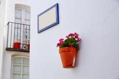 Stock Photo of Mojacar Almeria white Mediterranean village Spain