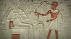 Egyptian stone carved plaque - stock footage