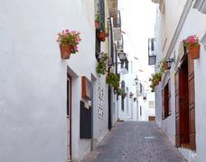 Mojacar Almeria white Mediterranean village Spain Stock Photos