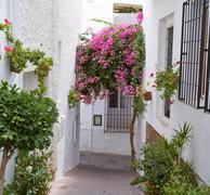 Mojacar Almeria white Mediterranean village Spain - stock photo