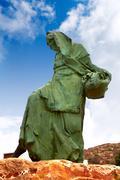 Mojacar Almeria mojaquera statue woman Spain - stock photo