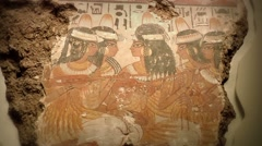 Egyptian fresco featuring dancing lady slaves Stock Footage