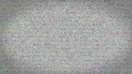 Stock Video Footage of Bad TV signal on the TV screen.
