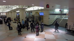 New York Penn Station Long Island Railroad, waiting area1, ws - stock footage