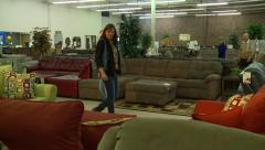 Furniture shopping Stock Footage