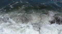 Sea waves bashing against the rocks. Sea surf. Stock Footage