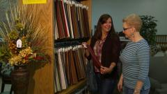 Ladies Upholstery Shopping 1 Stock Footage