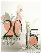 Graceful 2015 spring runway fashion show poster Piirros