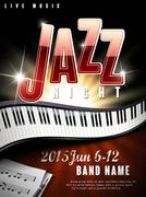 Mystery jazz music night poster Stock Illustration
