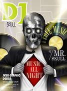 Stunning crystal skull businessman on magazine cover Stock Illustration