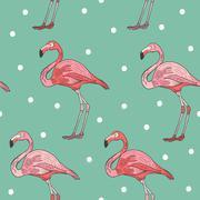 Elegant flamingo seamless pattern Stock Illustration