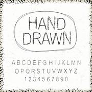 Stock Illustration of simplicity hand drawn font design set