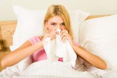 During illness - stock photo