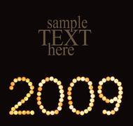 Symbol of 2009 - stock photo