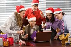 Christmas excitement Stock Photos