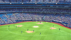 Stock Video Footage of MLB Baseball Game Stadium Timelapse Toronto Rogers Centre Closeup