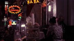 Colorful lights in Saigon Stock Footage