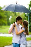Sweet kiss - stock photo