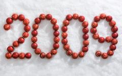 Symbol of new year - stock photo