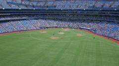 MLB Baseball Game Stadium Toronto Rogers Centre Field Medium - stock footage