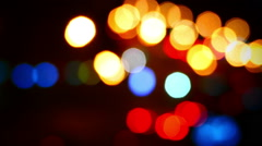Stock Video Footage of Defocused night traffic light