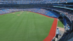 MLB Baseball Game Stadium Toronto Rogers Centre Medium Wide Pan - stock footage