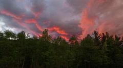 Mountain Sunset Stock Footage